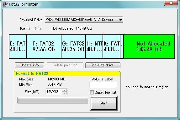 FAT32FORMATTER VISTA TÉLÉCHARGER