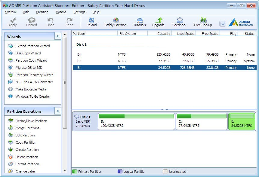 How to split a disk on Windows 8