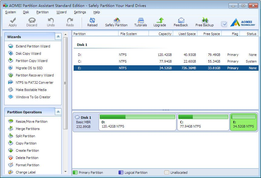 Free AOMEI Partition Assistant vs EaseUS Partition Master Free