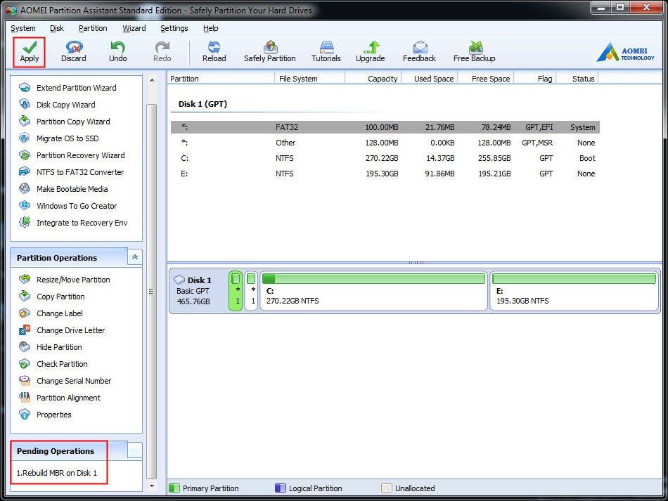 Fix Black Screen on Boot Error in Windows 10/8/7/XP