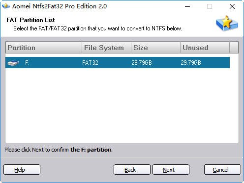FAT Partition List