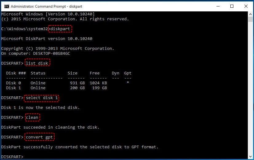 Convert SSD To GPT CMD