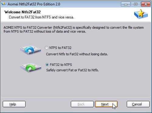 Fat32 To Ntfs