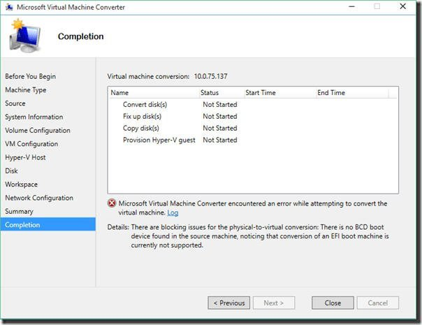 Convert VHDX GPT to MBR: to Fix P2V (Hyper-V) Conversion Failed