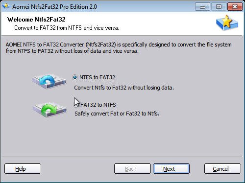 NTFS to FAT32