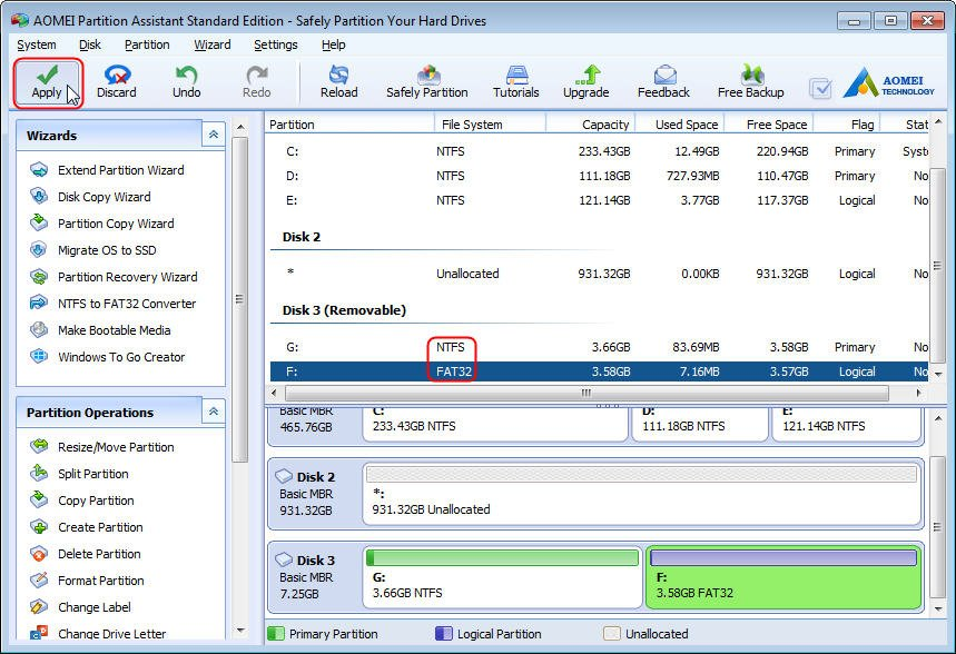 how to create partition in external hard disk