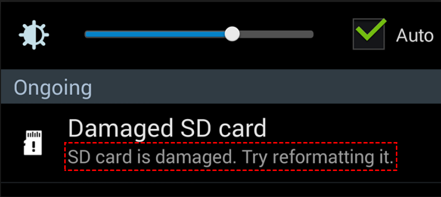 SD Card Is Damaged Try Formatting it