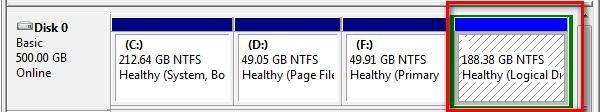 Drive Letter Missing Disk Management
