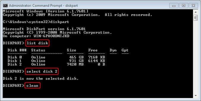 Clean SanDisk USB