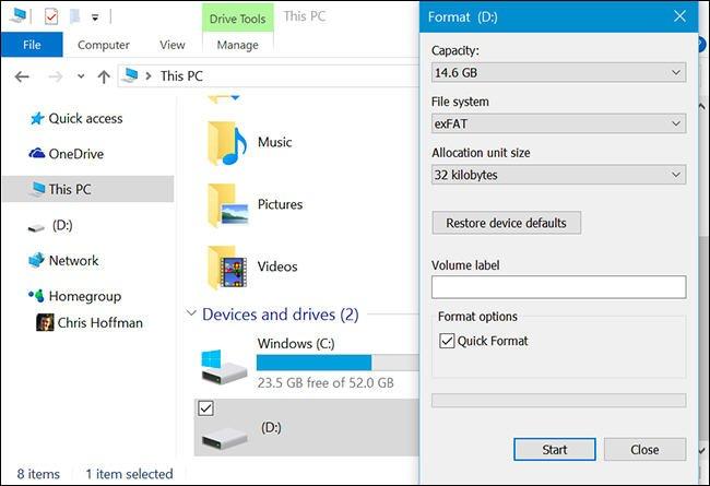 Windows 10 Format