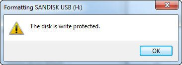 Format Write Protected