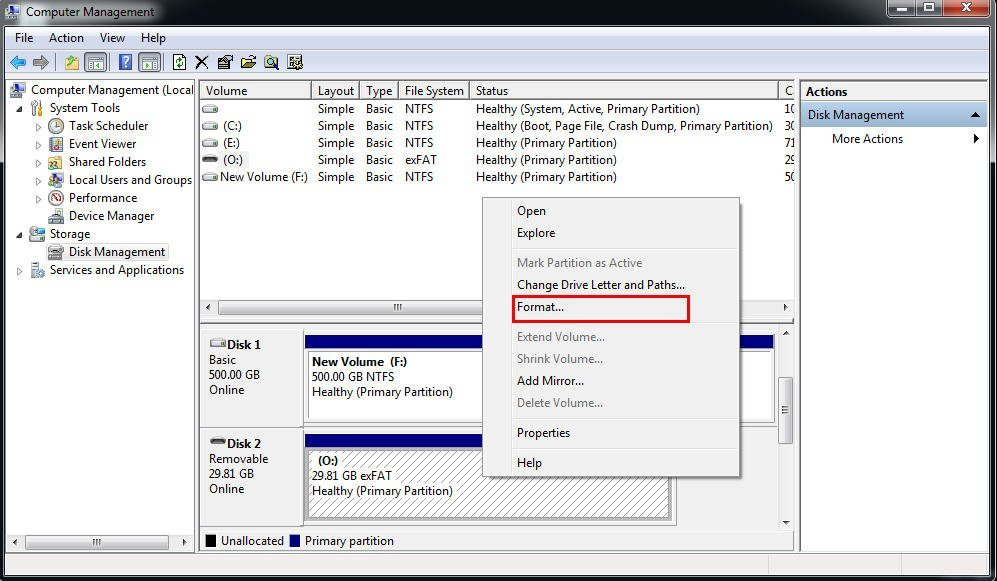 how to format a hard drive from gpt to ntfs