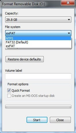 How to Free Format exFAT to FAT32 or NTFS in Windows 7/8/10?