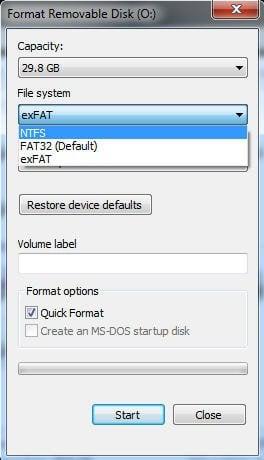 Quick Format exFAT