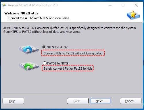 FAT32 NTFS Converter