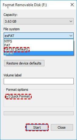 Format SDXC To FAT32
