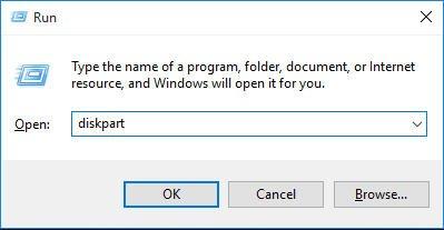 Run Diskpart Utility