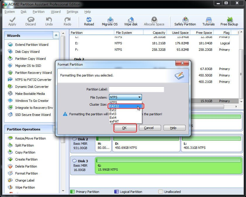 Select File System