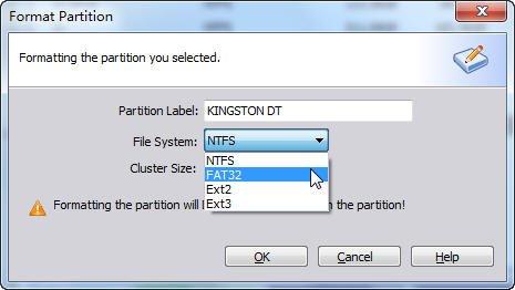 Format Kingston USB