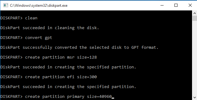 Create System Reserved Partition