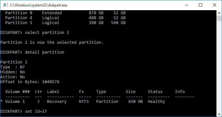 Hide System Reserved Partition Using CMD