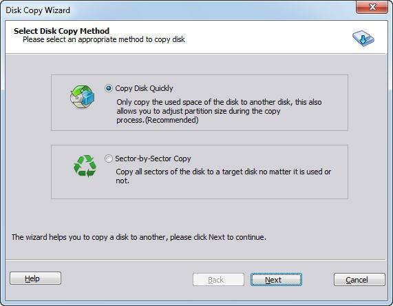 Disk Copy Method