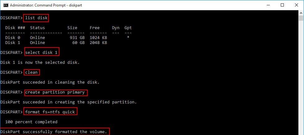 Format Hard Drive from Command Prompt in Windows