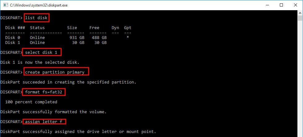 How to Format Unallocated Disk using CMD