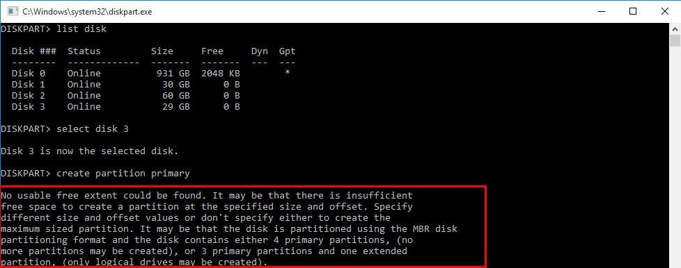 How to Format Unallocated Disk using CMD?