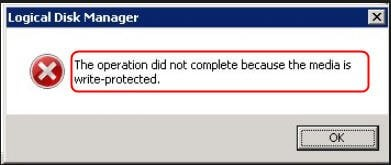 Disk Write Protected