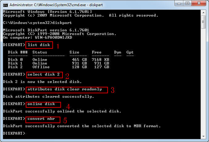 Diskpart Initialize SSD