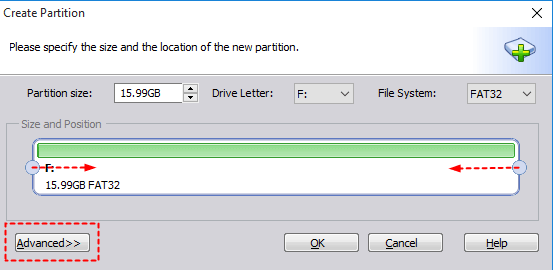 Partition Settings