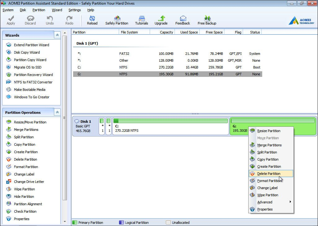 hp partitioning tool
