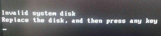 Invalid System Disk