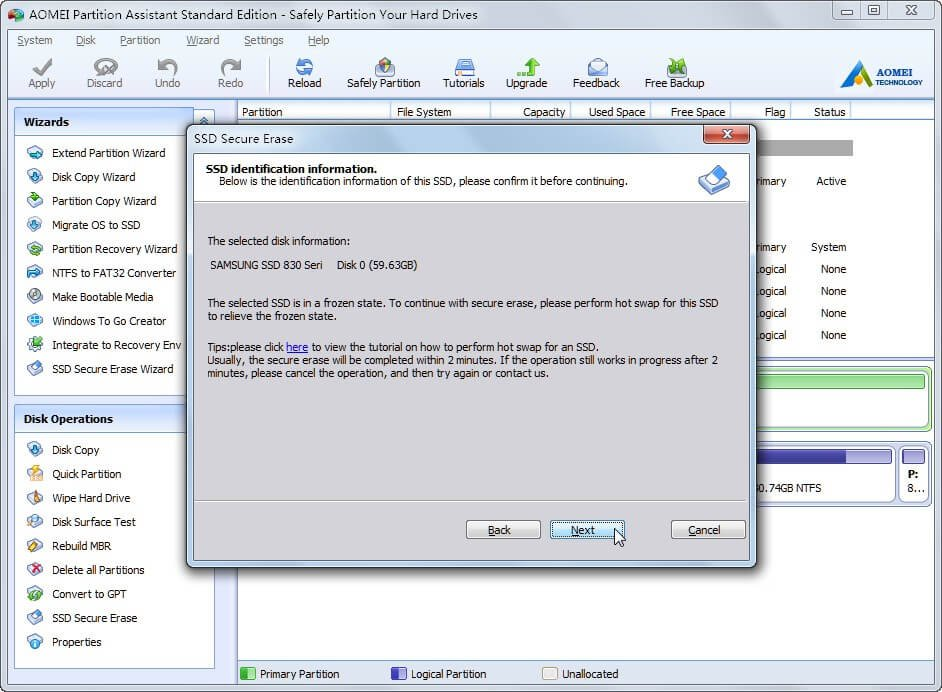SSD Identification Information