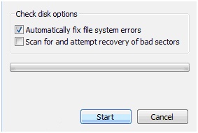 Automatically Fix File System Error