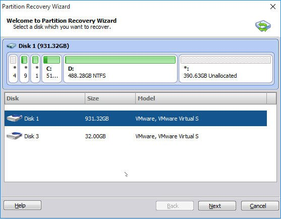 Select Disk Recover