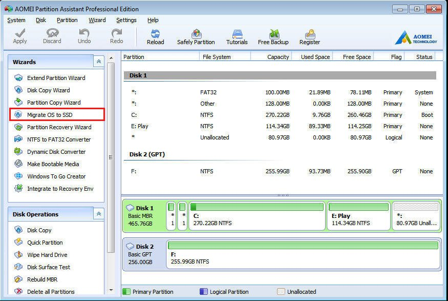 Migrate from MBR to GPT