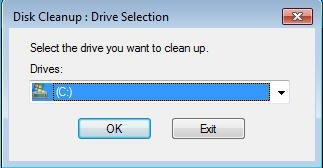 Select C Drive