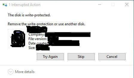 How to remove write protection from transcend external hard drive