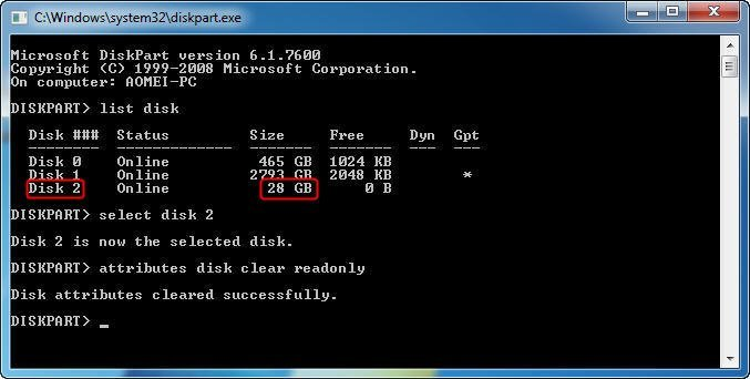 Disk Clear Read Only