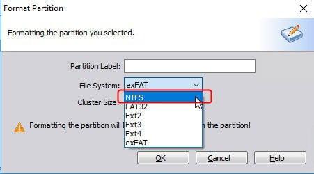 Format NTFS