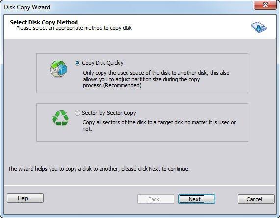 Select Copy Type