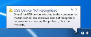 USB Device Not Recognized