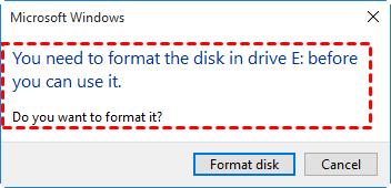 Sandisk Pen Drive not Formatted Error