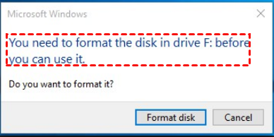 You Need To Format Disk
