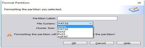 Format as NTFS