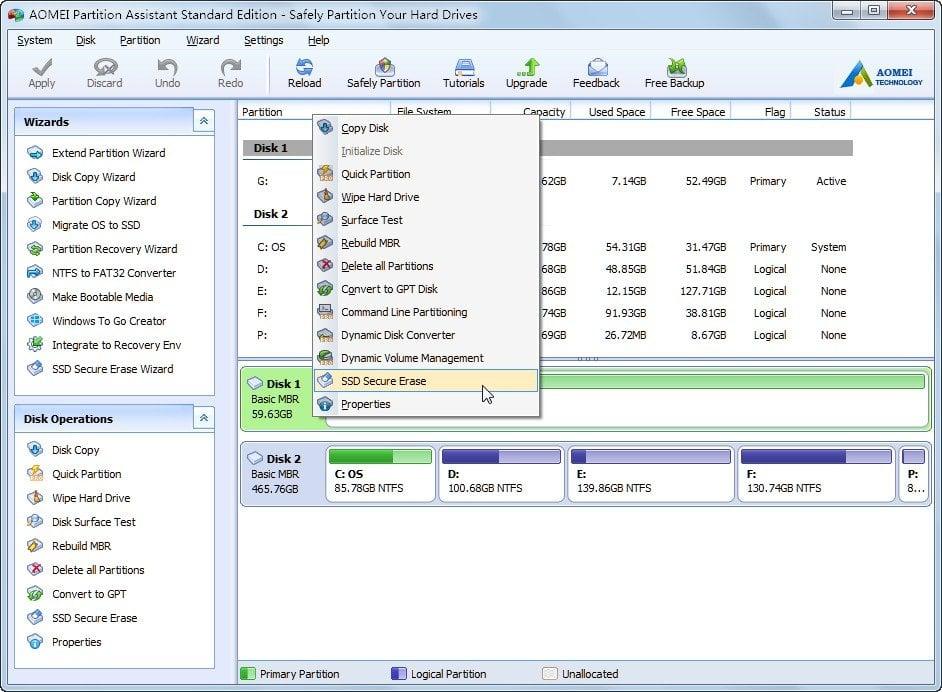 Secure Erase SSD