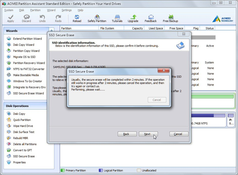 How to Secure Erase Hard Drive in Windows 7?