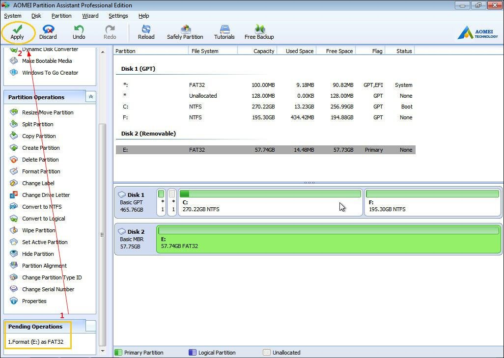 smartdisk fat32 tool